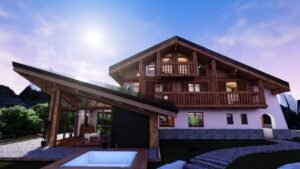 Chalet outside front